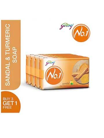 Godrej No.1 sandal turmeric natural oils soap 150gm X 4 (Buy 3 Get 1)