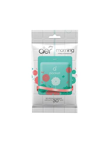 Godrej aer pocket, Bathroom Air Fragrance - Morning Misty Meadows (10g)