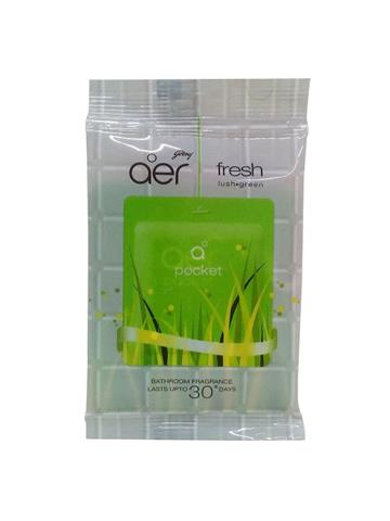 Godrej Aer Pocket Bathroom Fragrance - 10 g (Fresh Lush Green)