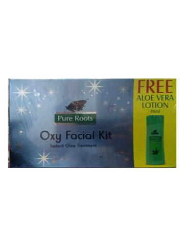 Pure Roots Oxy Facial Kit Instant Glow Treatment 100gm + Aloevera Lotion 40ml