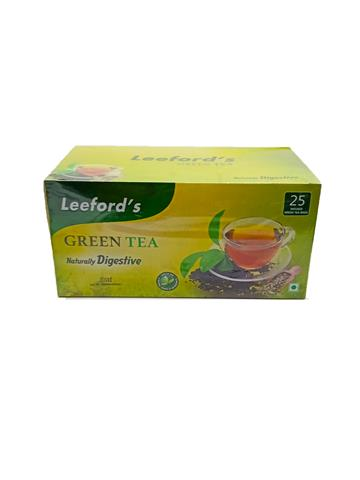 Leefords Green Tea Naturally Digestive   25 Tea Bags