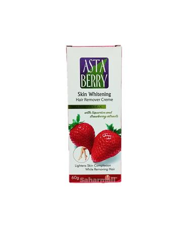 Asta Berry Skin whitening hair remover creme with liquorice and strawberry extracts 60g