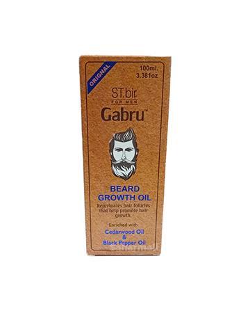 ST.bir for men  Gabru Beard Growth Oil  cedarwood oil and black pepper oil 100ml