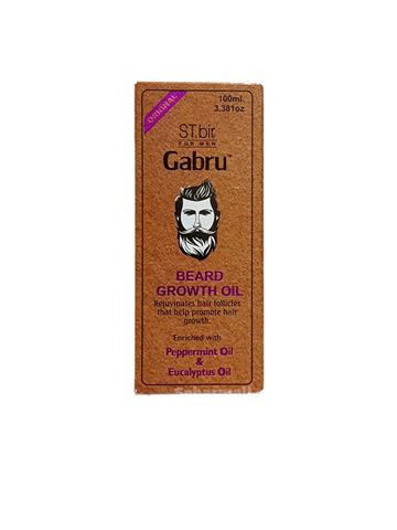 ST.bir for men  Gabru Beard Growth Oil Peppermint oil and Eucalyptus oil 100ml