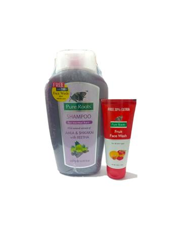 Pure roots Shampoo with natural extracts of Amla & Shikakai with Reetha 500ml