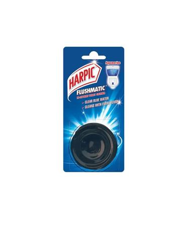 Harpic Flushmatic Aquamarine Aquamarine Block Toilet Cleaner 50g