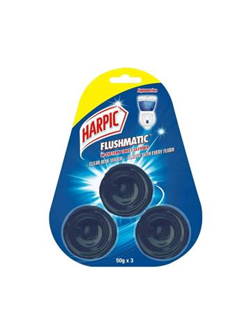 Harpic Flushmatic Aquamarine Block Toilet Cleaner 150g