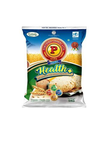 P Mark Health Plus Atta 5kg (free P mark sooji 200gm worth Rs 20)