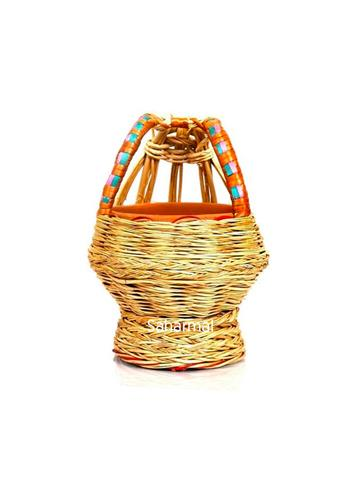 Large Decorative Kashmiri Kangri Willow - Multi Color