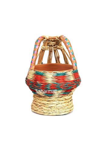 Large Decorative Kashmiri Kangri Willow - Multi Color