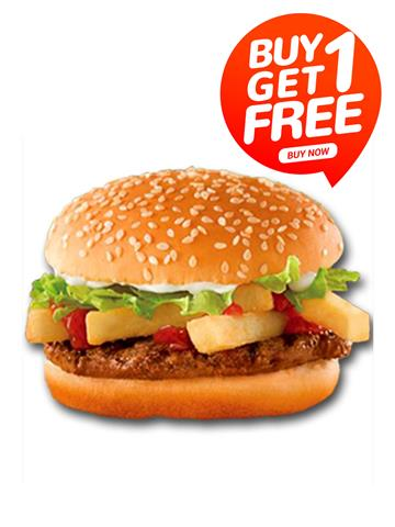Veg Snacker Burger - Ariose  Buy 1 Get 1 Free (Limited Offer)