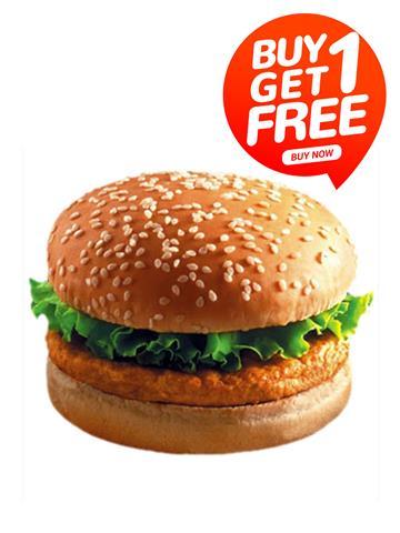 Veg Zinger Burger  - Ariose Buy 1 Get Free Limited Offer