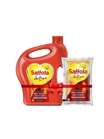 Saffola Active Pro Weight Watcher 5 ltr + 1 ltr free pouch