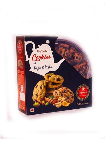 Hatrick Dry Fruit Cookies with Kaju & Pista (600gm)