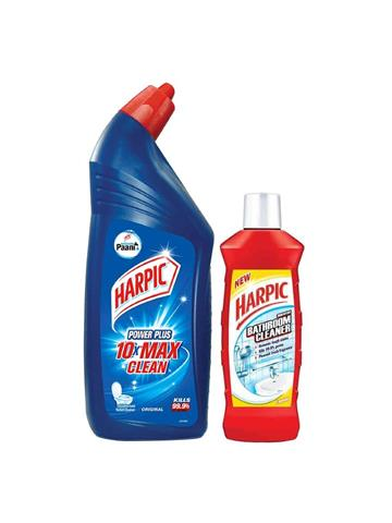 Harpic Toilet Cleaner 900ml + Harpic Bathroom Cleaner 200ml offer pack.