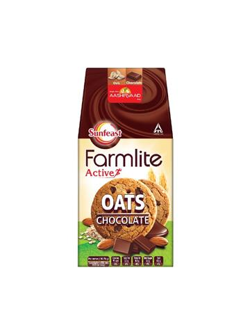 Sunfeast Farmlite Active Oats Chocolate Biscuits 150g