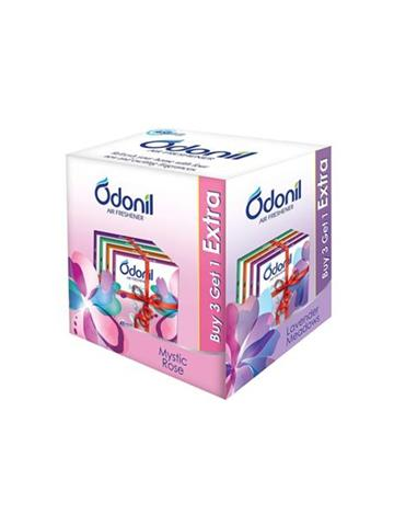 Odonil Bathroom Air Freshener Blocks Pieces 3N *75g+Free Pieces 1N*75g Net Weight 300g