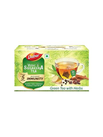 Dabur Vedic Suraksha Green Tea with Herbs 25N * 1.5g each