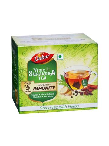 Dabur Vedic Suraksha Green Tea with Herbs 10N*1.5g
