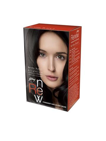 Godrej Renew Hair Colour Cream Natural Black 1 26g+20ml