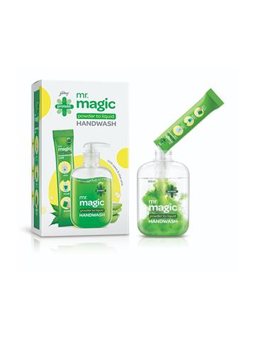 Godrej protekt magic powder to liquid Handwash 1 empty Bottle 1 sachet : 1U of 9g