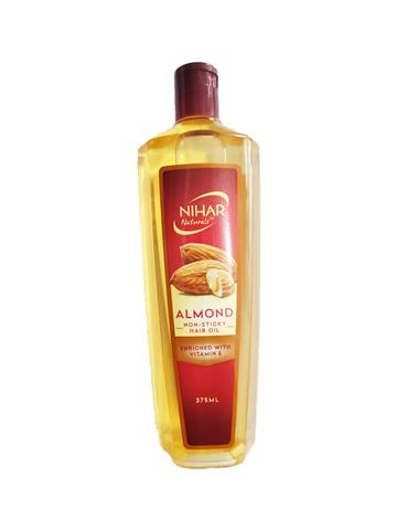 Nihar Almond Non Sticky Hair oil Enriched with vitamin E (375ml)
