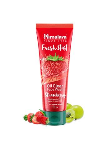 Himalaya Fresh Start Oil Clear Facewash Strawberry with natural natural beads (100ml)