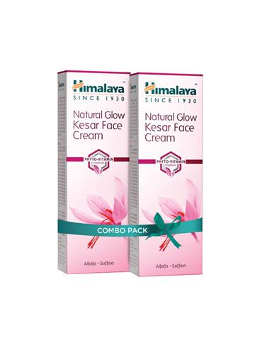 Himalaya Natural Glow Kesar Face Cream with Alfalfa & Saffron  offer pack (50g)