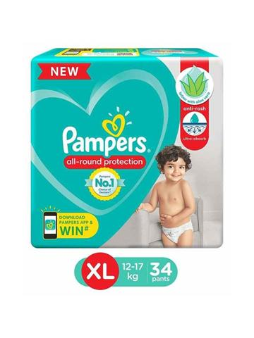 Pampers All Round Protection (XL)Size 34 Pants