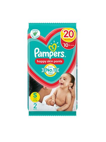 Pampers Happy Skin Pants Small Size 2 Pants