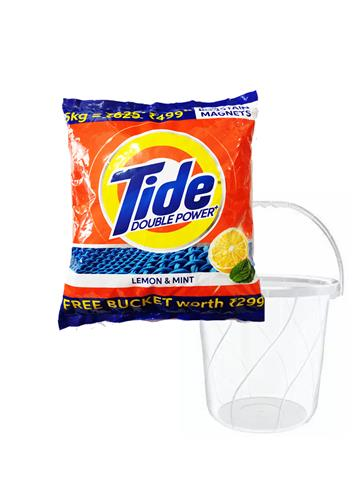 Tide Double Power Lemon And Mint 5KG With Free Bucket