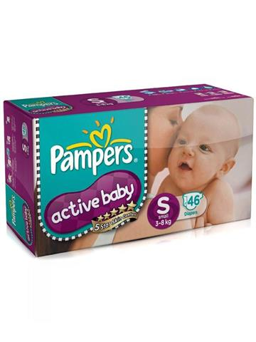 Pampers Active Baby Small (S) Size 46 Diapers