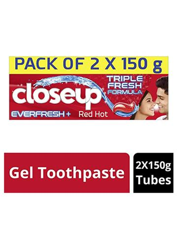 Close Up Everfresh With Triple Fresh Formula Red Hot Pack Of 2 (150G)