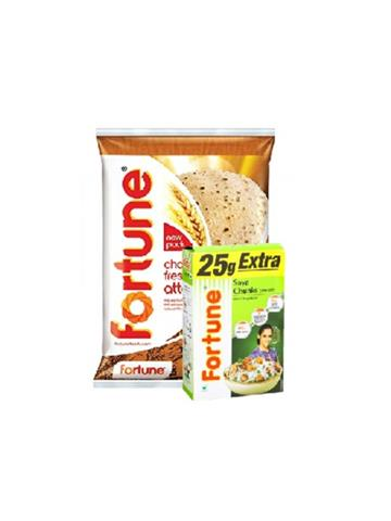 Fortune Chakki Fresh Atta 10kg With Free 225 G Fortune Soya Chunks