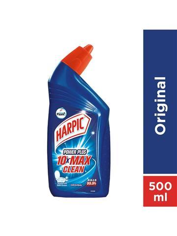 Harpic Power Plus 10X Max Clean Disinfectant Toilet Cleaner Original 500ml
