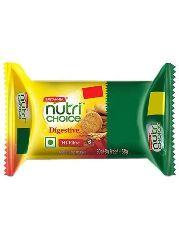Britannia Nutri Choice Digestive Hi Fibre Biscuit (58G)