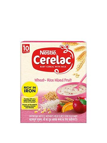 Nestle Cerelac Wheat Rice Mixed Fruit From 10 Months To 24 Months (300G)