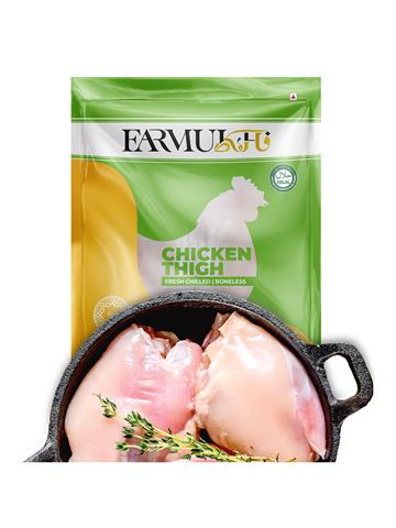 Farmukh fresh Chicken Thigh Boneless 1kg