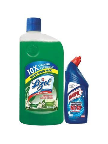 Lizol Disinfectant Surface Cleaner Jasmine  500ml Free Harpic 200ml Worth Rs 37