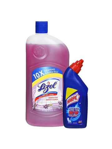 Lizol Disinfectant Surface CleanerLavender 500ml Free Harpic 200ml Worth Rs 37