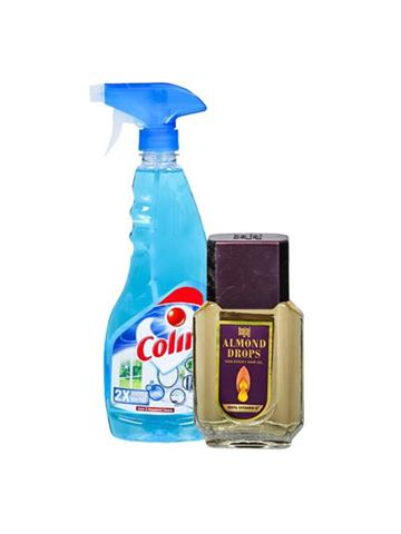 Colin Glass & Multi surface Cleaner  500ml with Free Bajaj Almond Drops Hair Oil Worth Rs 36