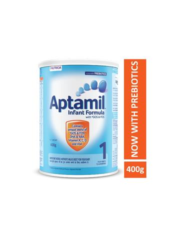 Aptamil Infant Formula with GOS & FOS 1 From Birth to 6 Months 400g