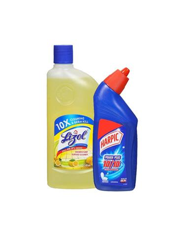 Lizol Disinfectant Surface Cleaner Citrus  500ml Free Harpic 200ml Worth Rs 37