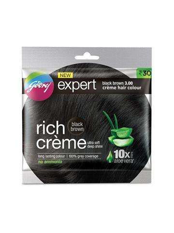 Godrej Expert rich creme Black Brown Hair colour 20g+ 20ml