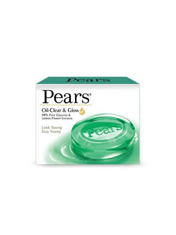 Pears Oil-Clear & Glow Pure Glycerine & Lemon Flower Extracts Soap 75g